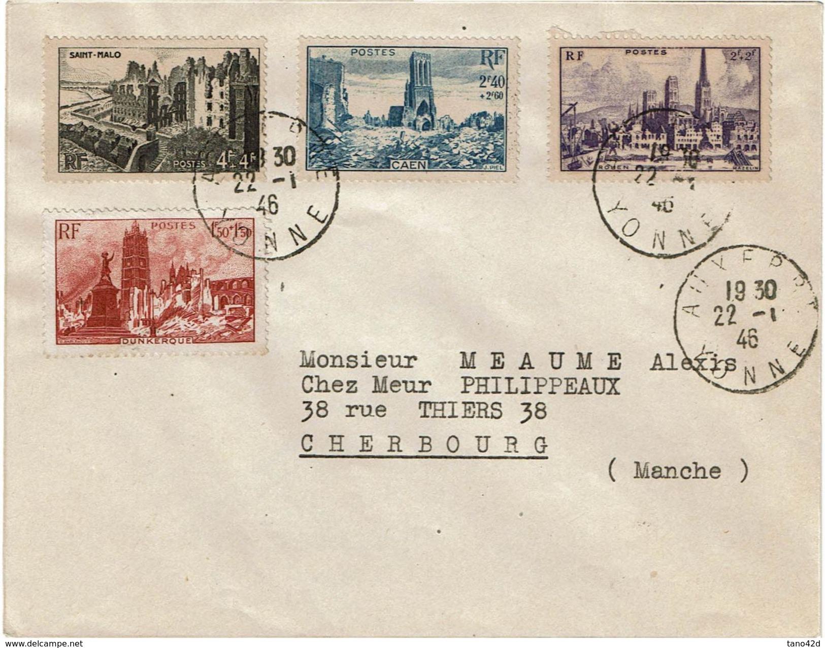 VILLES MARTYRES AUXERRE 22/1/1946 - France