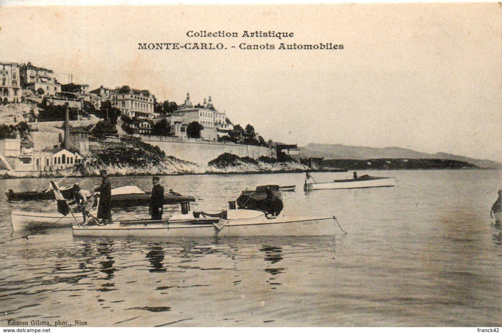 Monaco. Monte Carlo. Canots Automobiles - Monte-Carlo