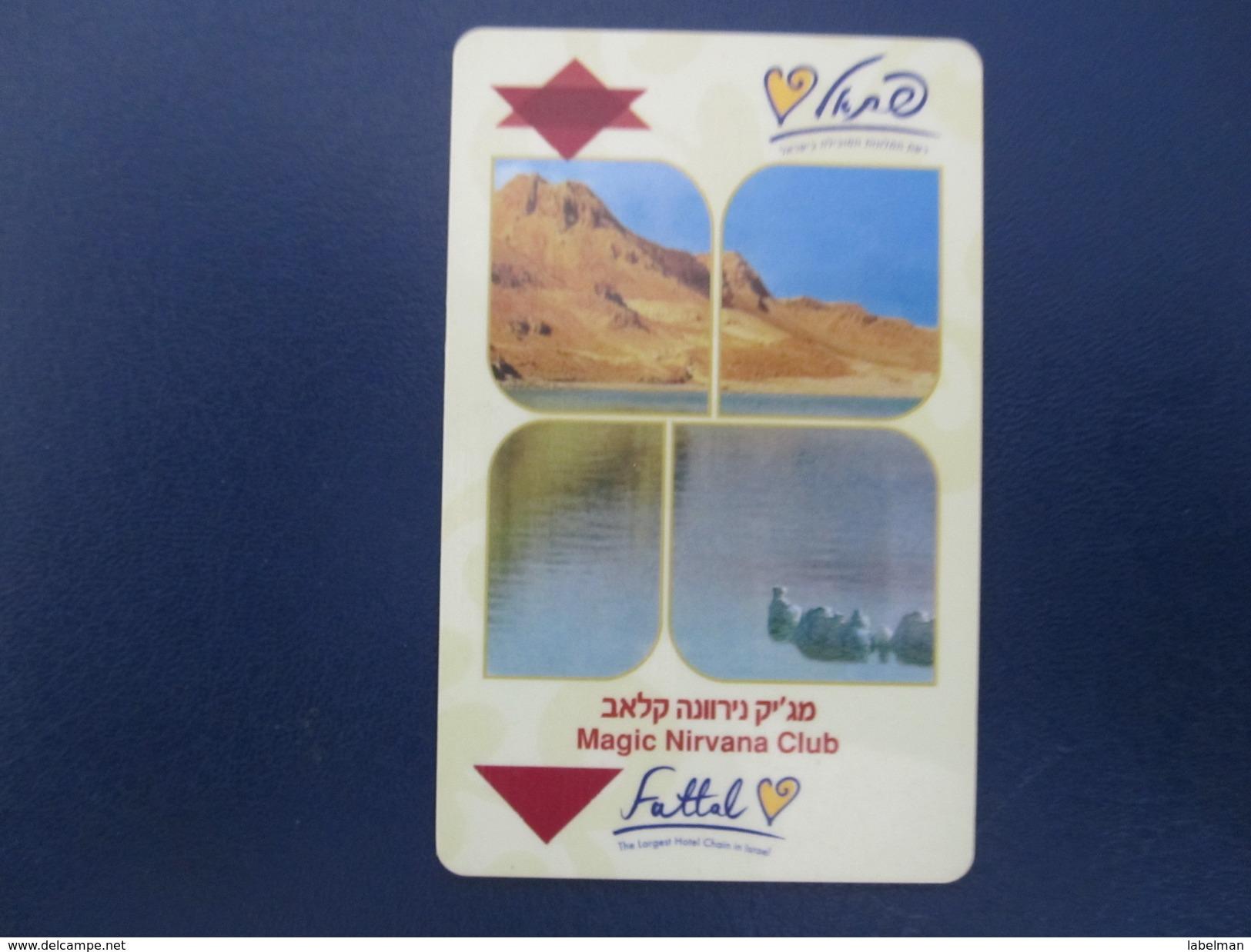 HOTEL MOTEL INN PENSION MOTOR HOUSE MAGIC NIRVANA CLUB FATTAL DEAD SEA HAIFA JERUSALEM TIBERIAS EILAT KEY CARD ISRAEL - Hotel Labels