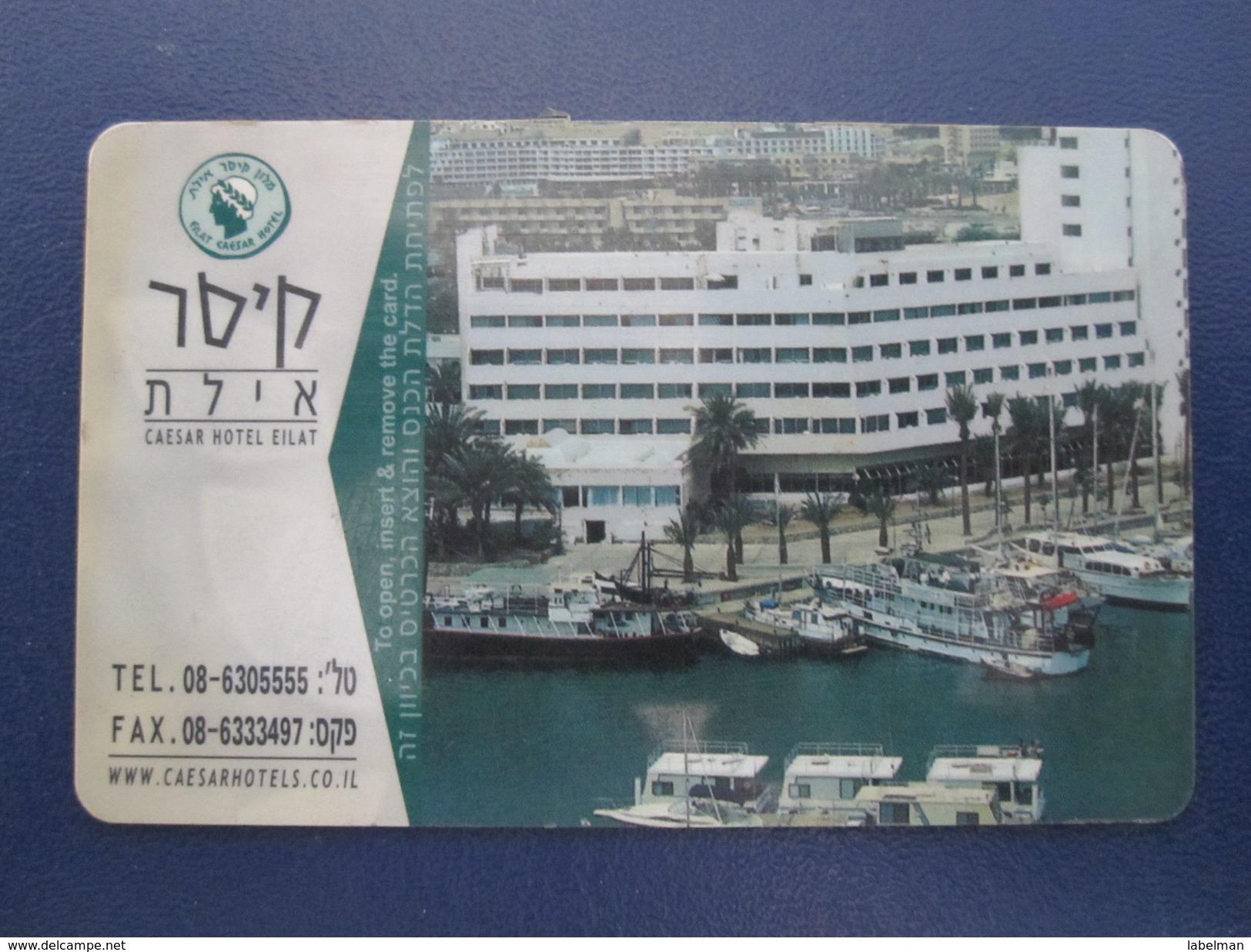 HOTEL MOTEL INN PENSION MOTOR HOUSE CAESAR PREMIER TIBERIAS DEAD SEA HAIFA JERUSALEM TIBERIAS EILAT KEY CARD ISRAEL - Hotel Labels