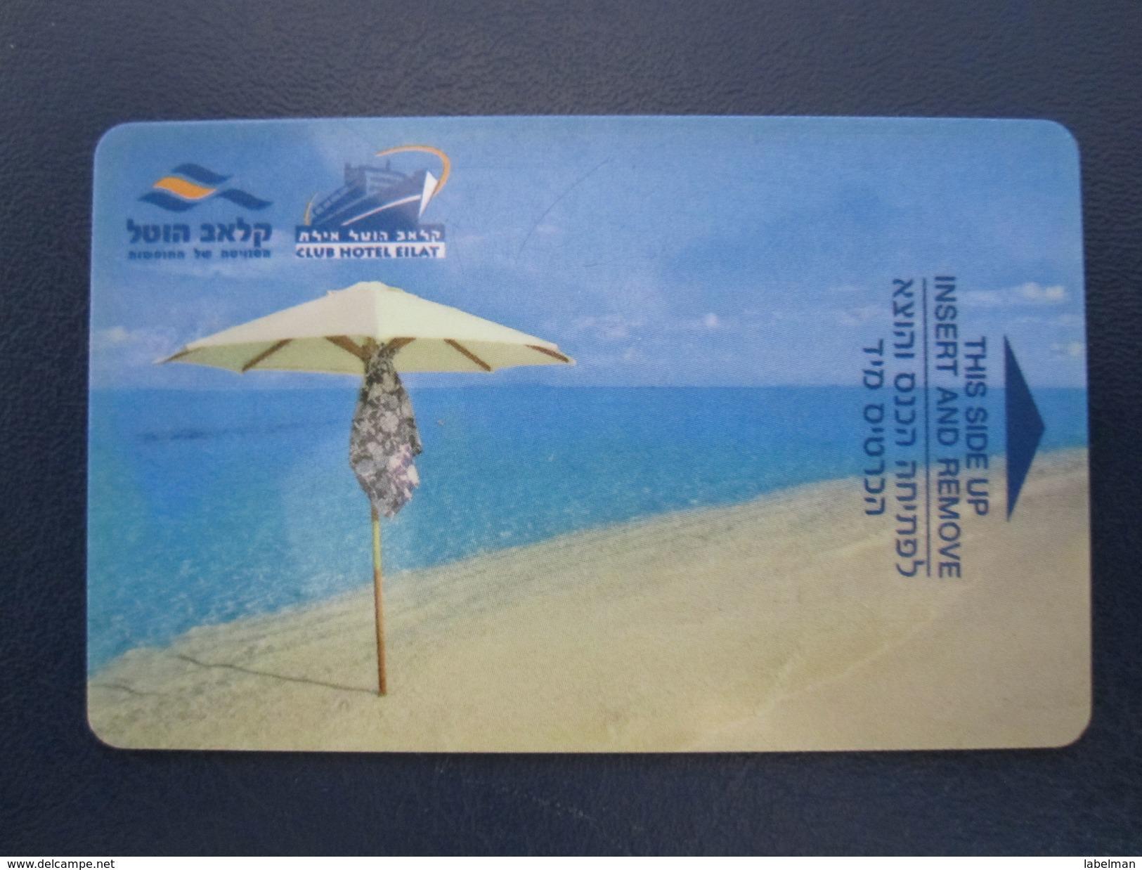 HOTEL MOTEL PENSION MOTOR HOUSE CLUB ELAT TIBERIAS DEAD SEA HAIFA JERUSALEM TIBERIAS EILAT KEY TOWEL CARD ISRAEL - Hotel Labels