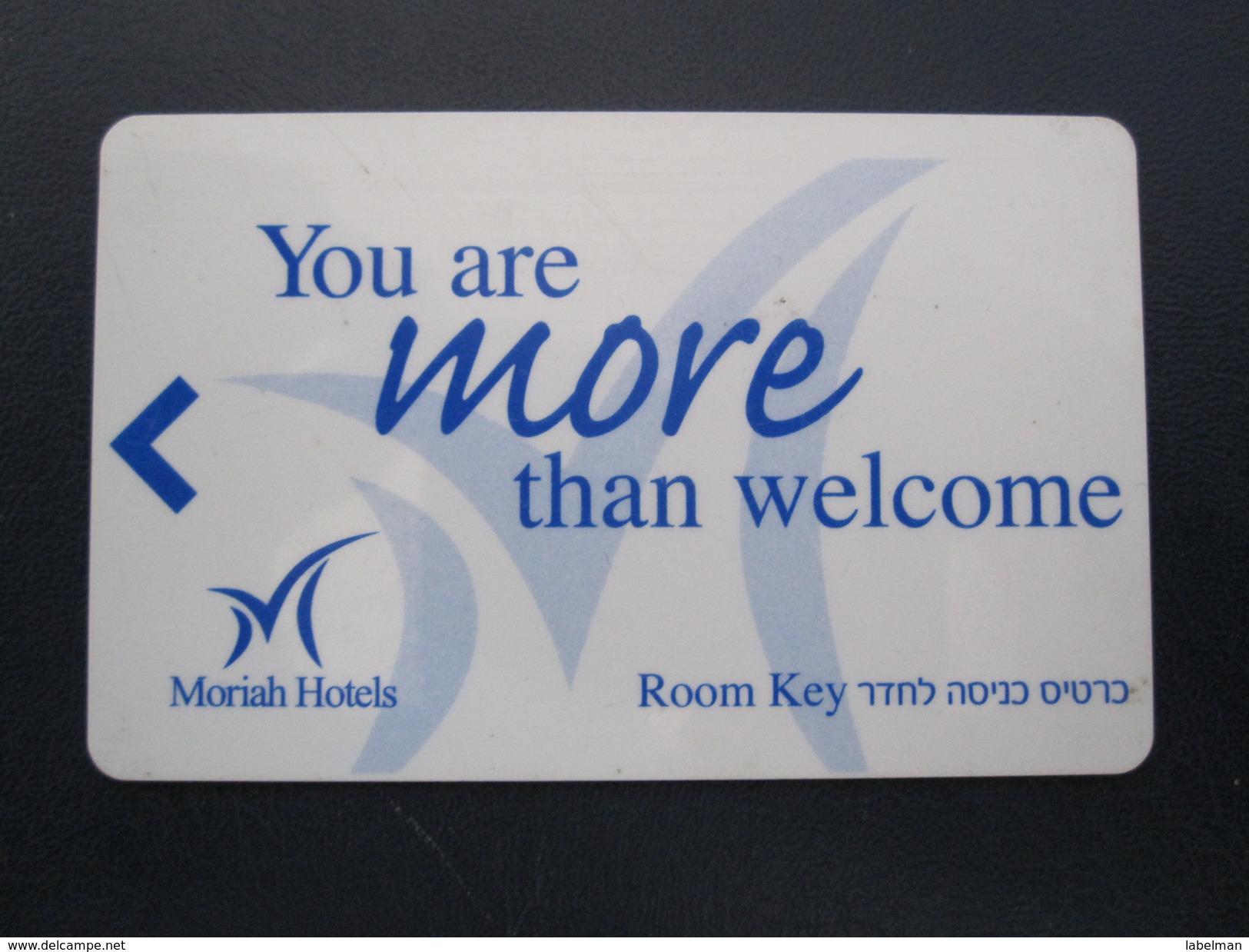 HOTEL MOTEL MOTOR HOUSE CLUB INN MORIAH TEL AVIV TIBERIAS DEAD SEA HAIFA JERUSALEM TIBERIAS EILAT KEY TOWEL CARD ISRAEL - Hotel Labels