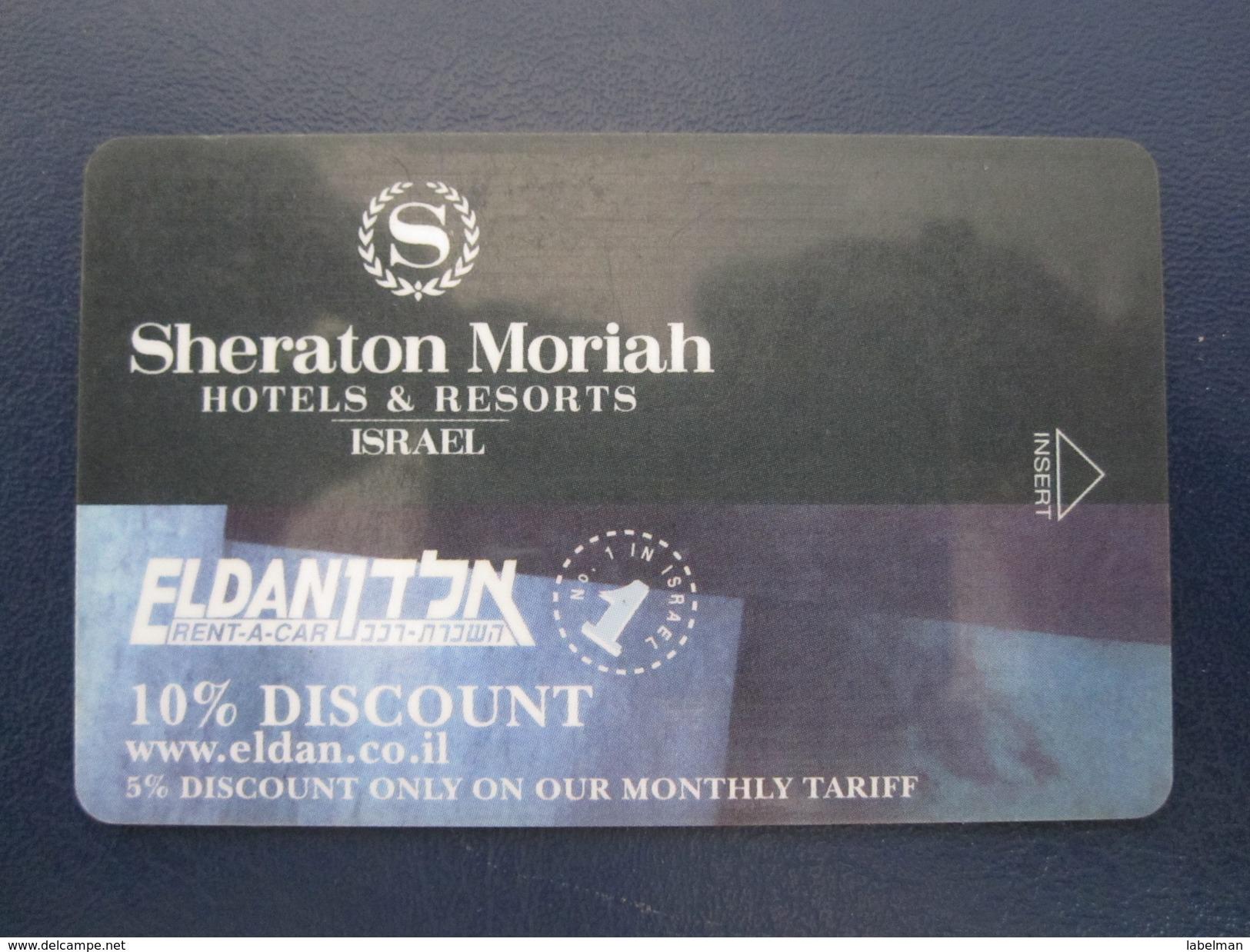 HOTEL MOTEL INN CLUB SHERATON MORIAH TEL AVIV TIBERIAS DEAD SEA HAIFA JERUSALEM TIBERIAS EILAT KEY TOWEL CARD ISRAEL - Hotel Labels