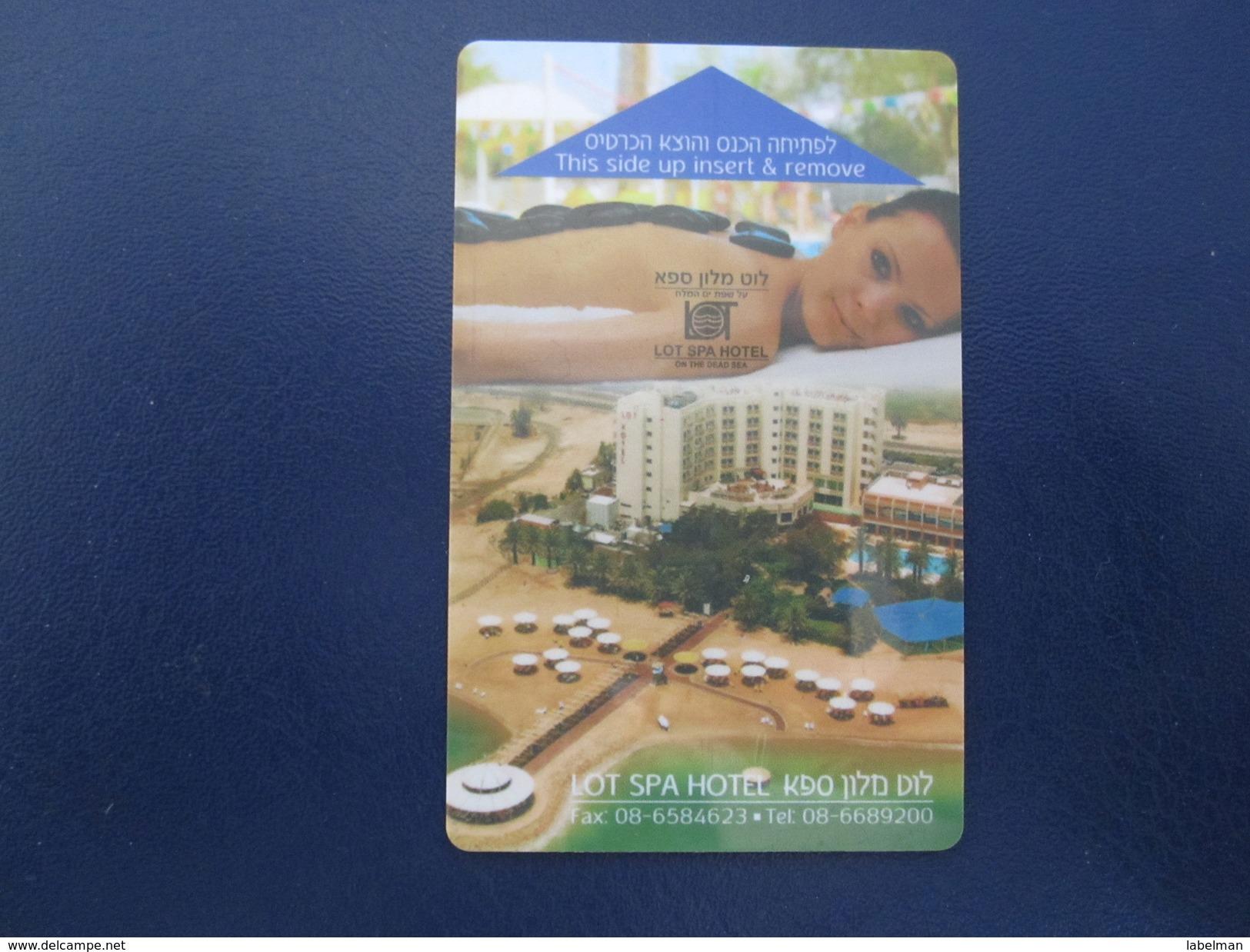 HOTEL MOTEL INN CLUB LOT SPA TEL AVIV TIBERIAS DEAD SEA HAIFA JERUSALEM TIBERIAS EILAT KEY TOWEL CARD ISRAEL - Hotel Labels