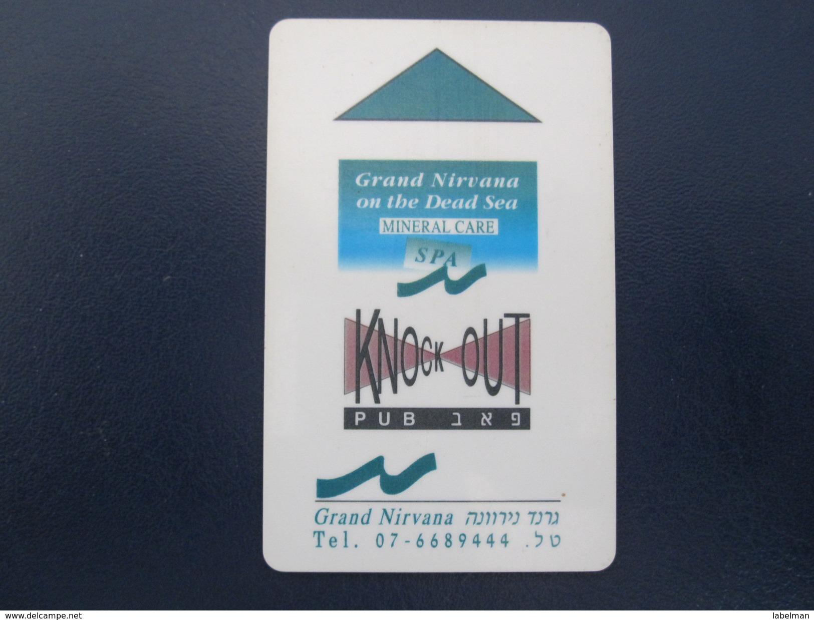 HOTEL MOTEL INN CLUB GRAND NIRVANA TEL AVIV TIBERIAS DEAD SEA HAIFA JERUSALEM TIBERIAS EILAT KEY TOWEL CARD ISRAEL - Hotel Labels