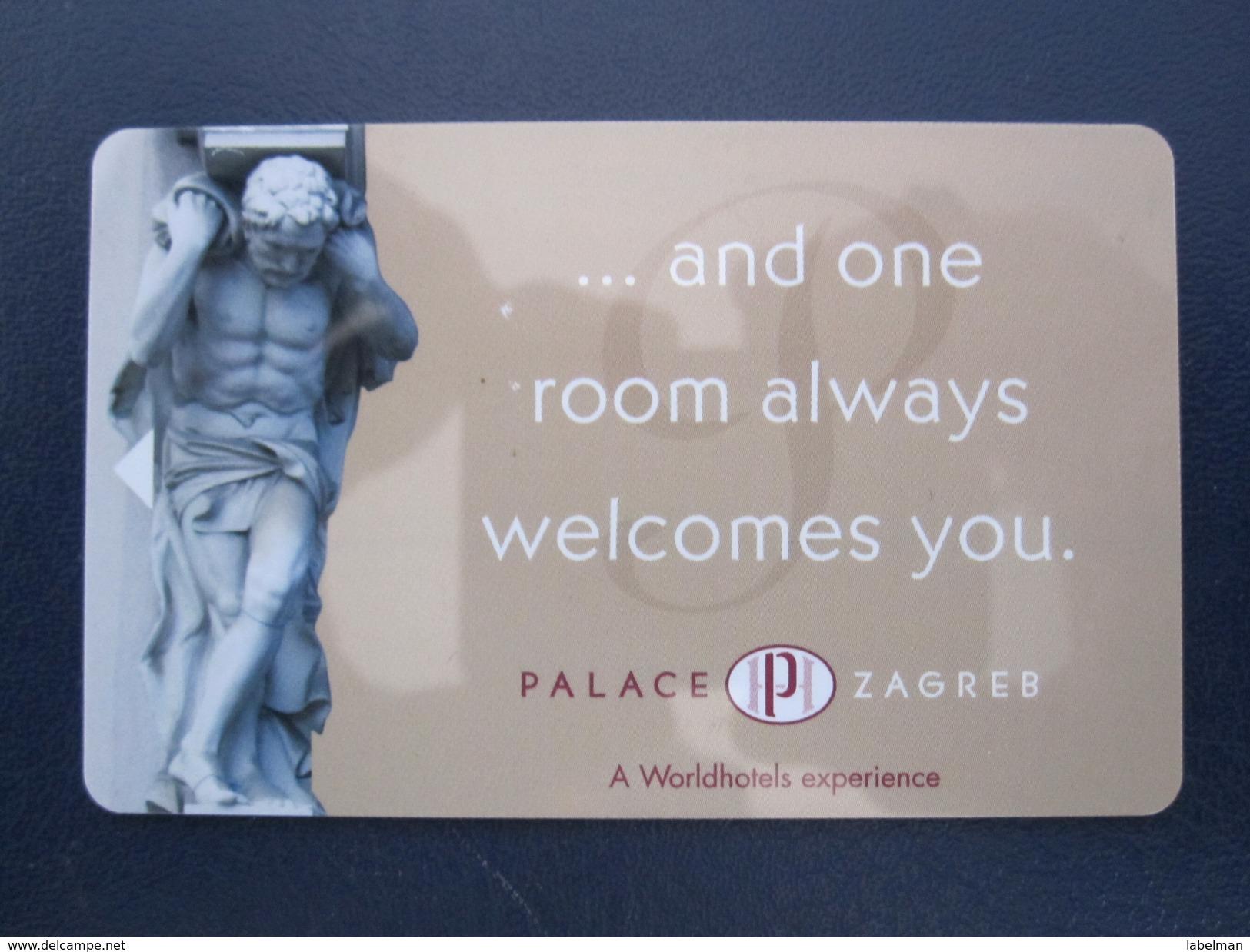HOTEL MOTEL INN CLUB PALACE ZAGREB CROATIA  KEY TOWEL CARD - Hotel Labels