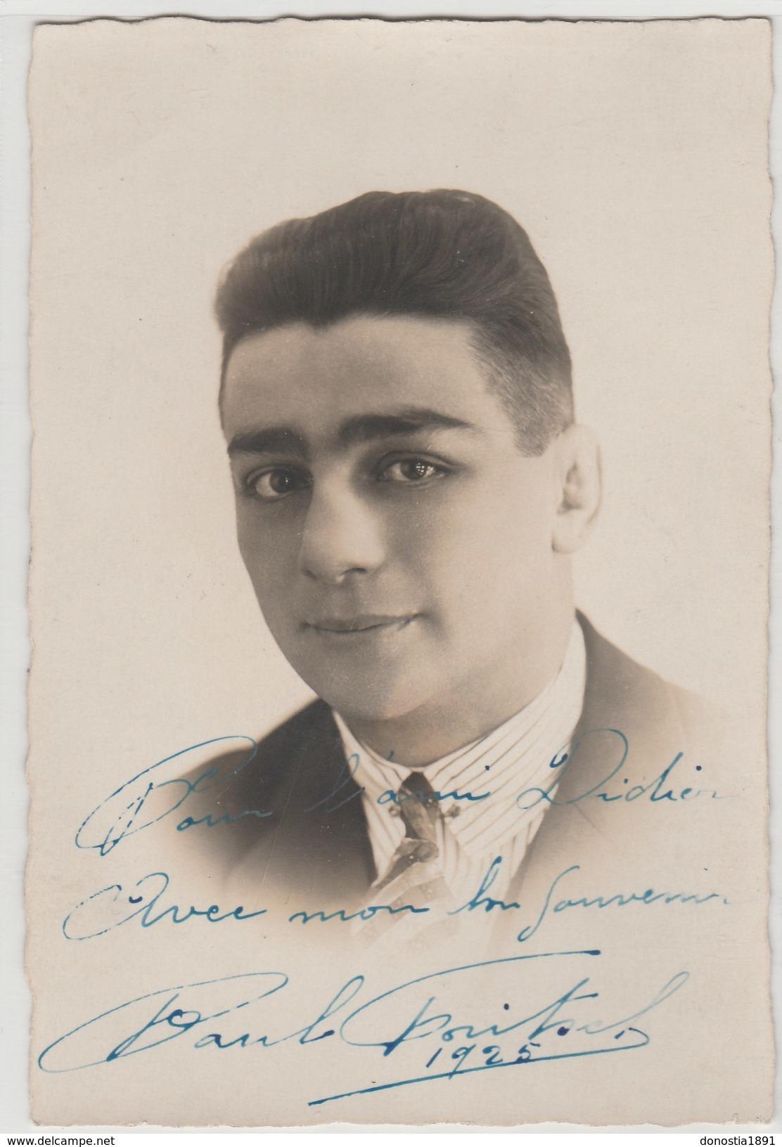 Paul FRITSCH -Boxe- Splendide Dédicace-Champion Olympique Anvers 1920-sociétaire Club BELFORT -studio V. HENRY Paris 18è - Boxsport