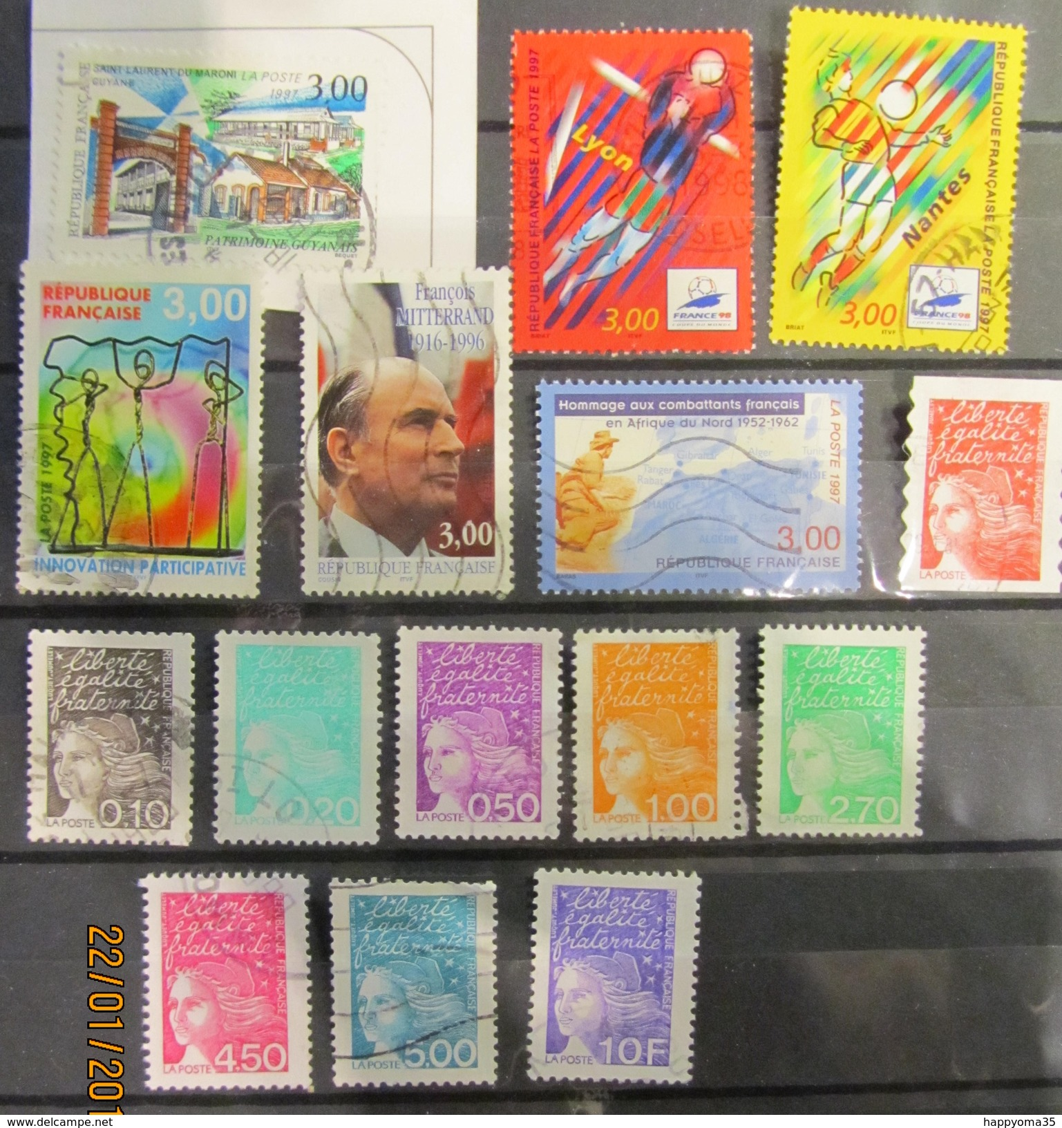 Frankreich Mix Set Stamps Of 1997 France Francia Frankrijk Small Selection Of Fine Used 381 - Frankreich