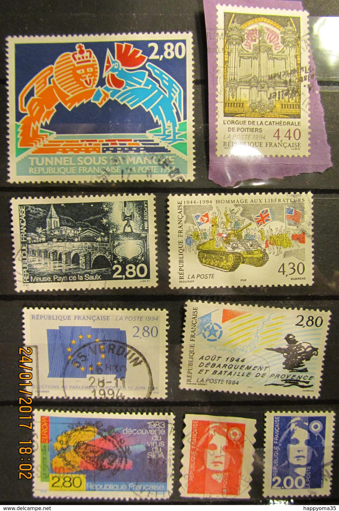 Frankreich Mix Set Stamps Of 1994 France Francia Frankrijk Small Selection Of Fine Used 880 - Frankreich