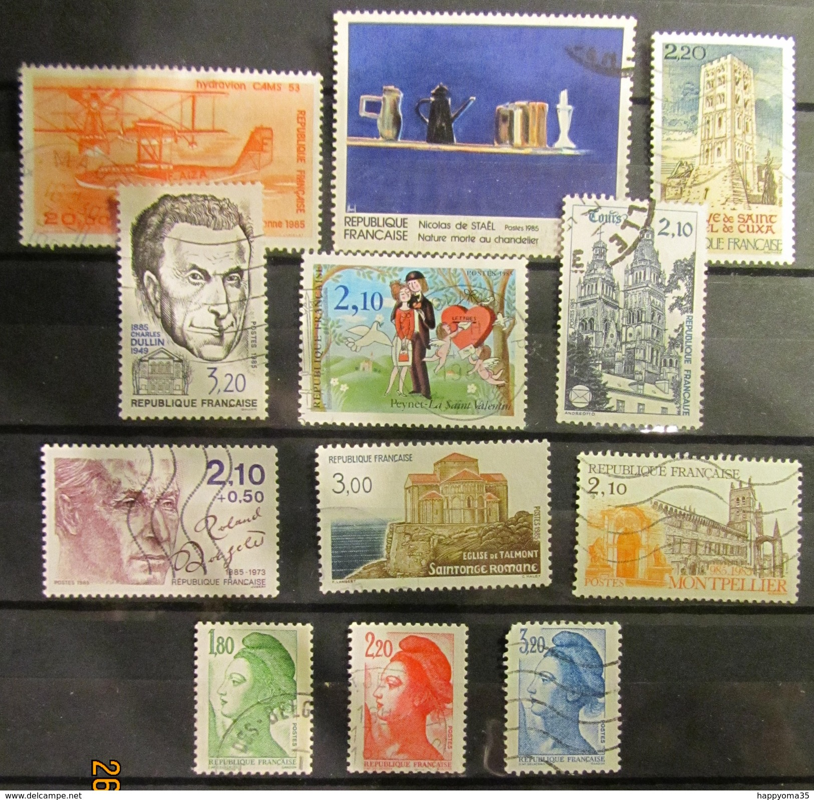Frankreich Mix Set Stamps Of 1995 France Francia Frankrijk Small Selection Of Fine Used 902 - Frankreich
