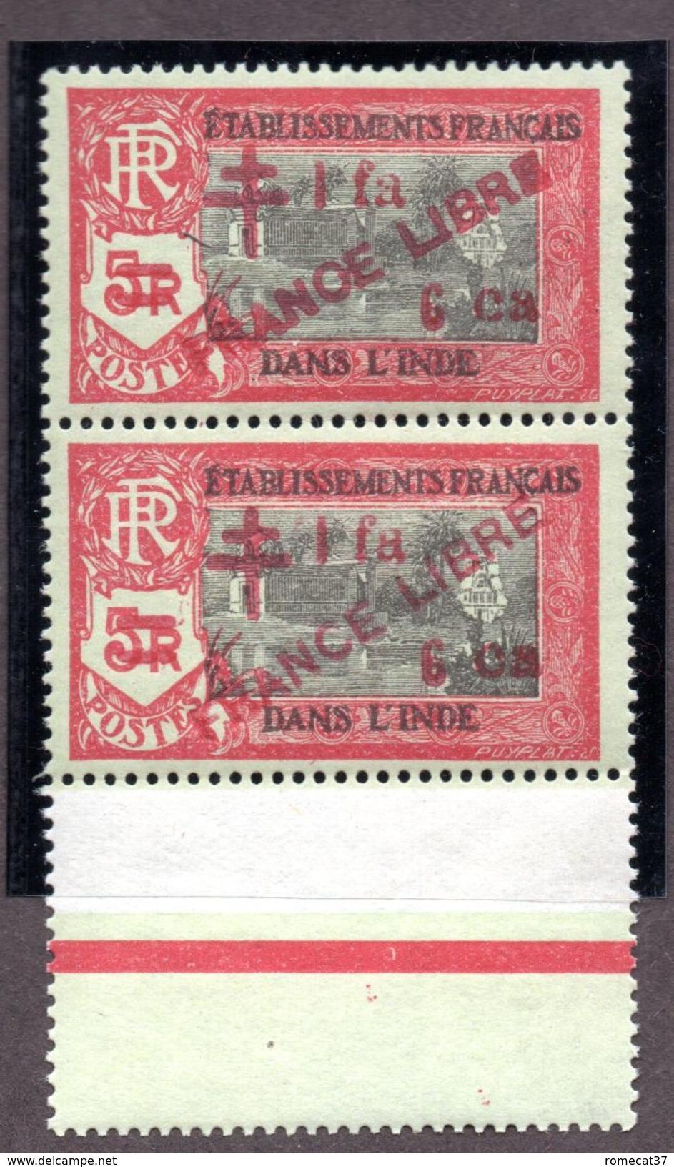 "INDE  N°257b+257 ""FRANOE LIBRE"" N** LUXE Cote 88 Euros !!!RARE - India (1892-1954)"