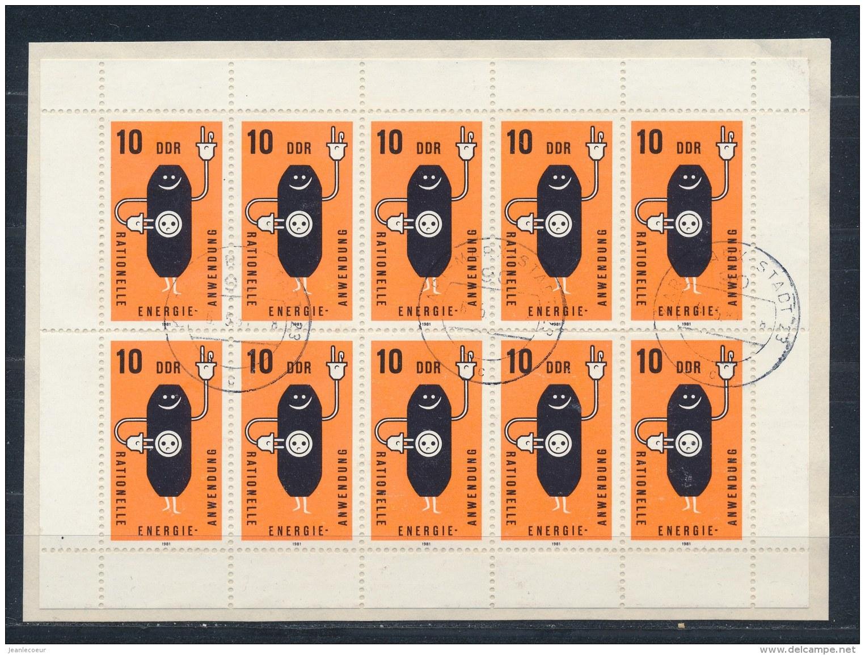 DDR/East Germany/Allemagne Orientale 1981 Mi: Kb 2601 Yt:  (Gebr/used/obl/o)(2872) - [6] Oost-Duitsland