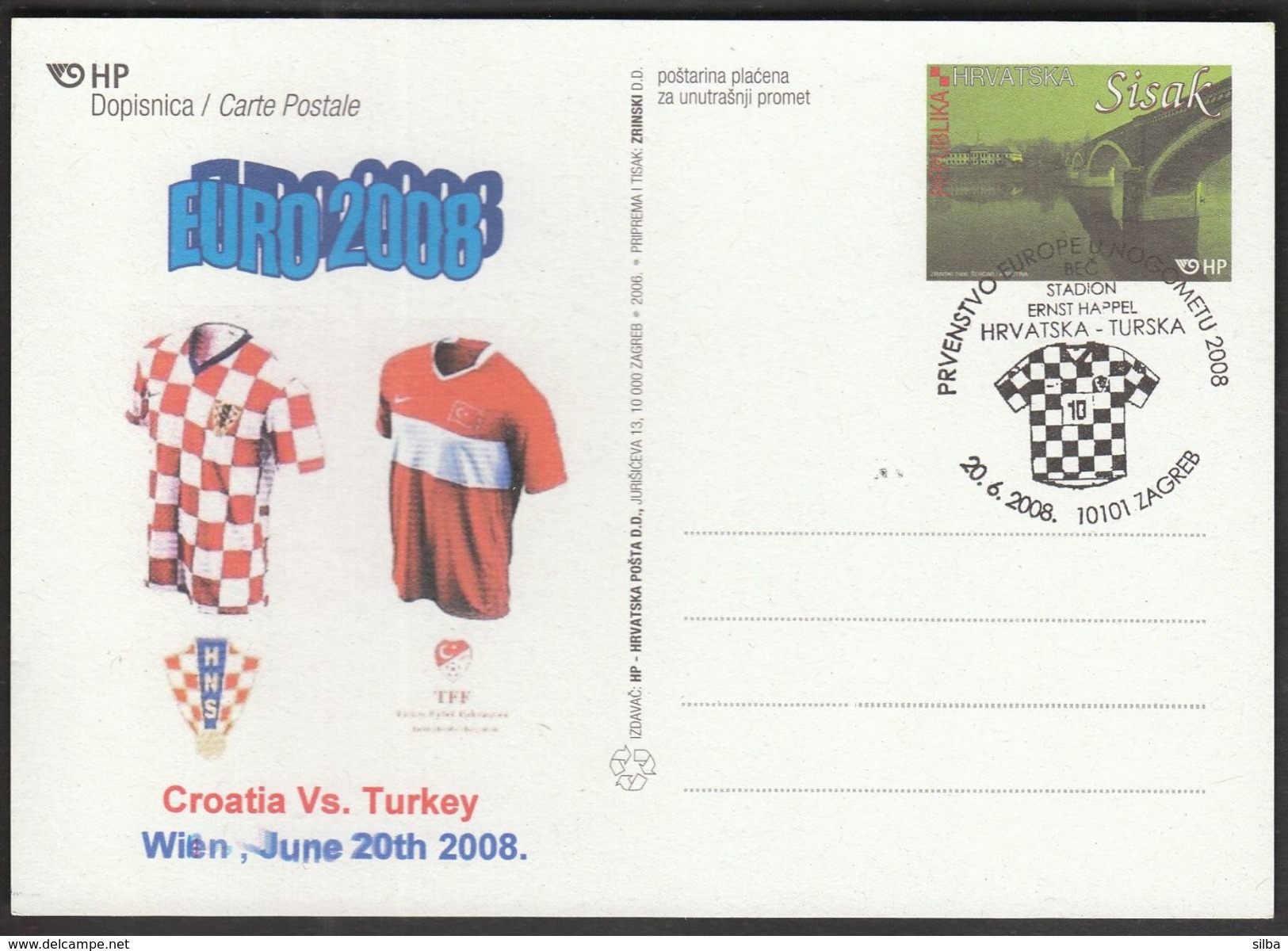 Croatia Zagreb 2008 / Soccer Football / UEFA European Championship 2008 Croatia - Turkey, Vienna, Ernst Happel Stadium - Eurocopa (UEFA)