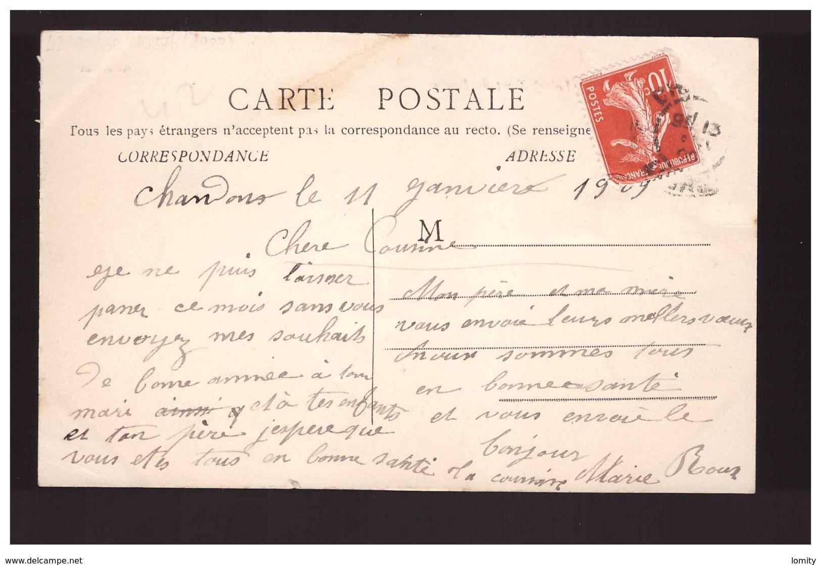 42 Chandon Haut Du Bourg Hotel Du Nord Attelage Cpa Animée 1909 - Otros Municipios