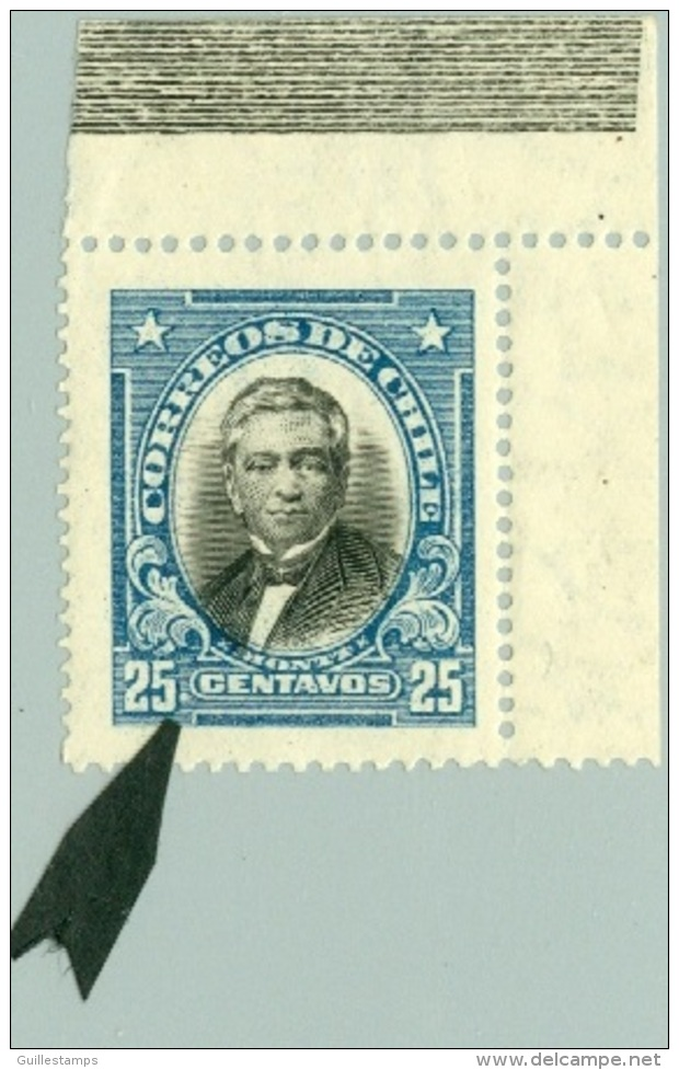 CHILE 1929 25c MONTT VARIETY** (MNH) - Cile