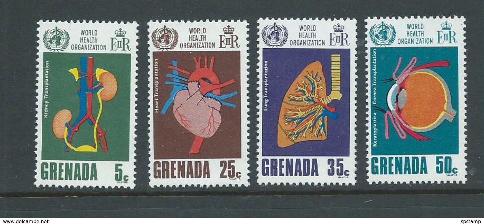 Grenada 1968 WHO Organ Transplant Set Of 4 MNH - Grenada (...-1974)