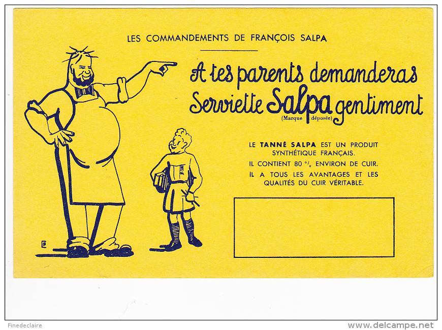 Buvard - Les Commandements De François Salpa - Buvards, Protège-cahiers Illustrés