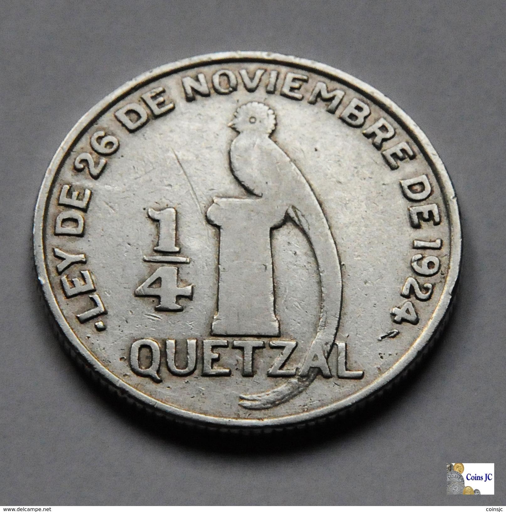 Guatemala - 1/4 Quetzal - 1948 - Guatemala