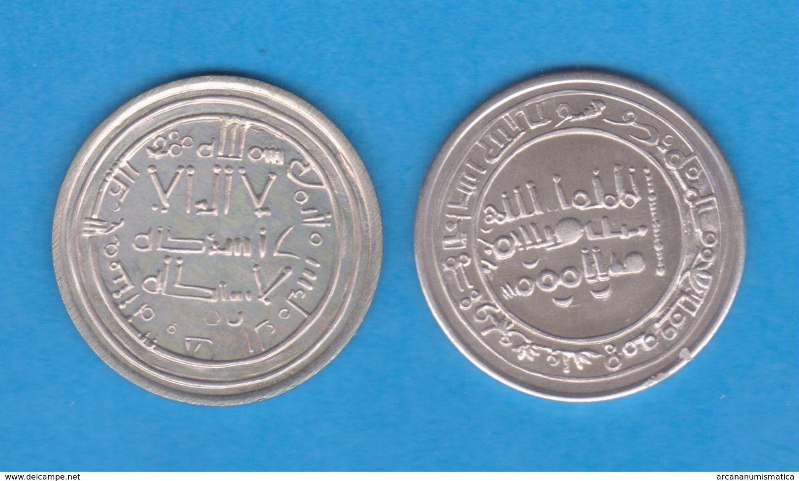 Califato De Córdoba (Califato Independiente) ABDERRAMÁN III (928-961) DIRHEM - Plata/Silver 344 H. Réplica   DL-12.168 - Islámicas