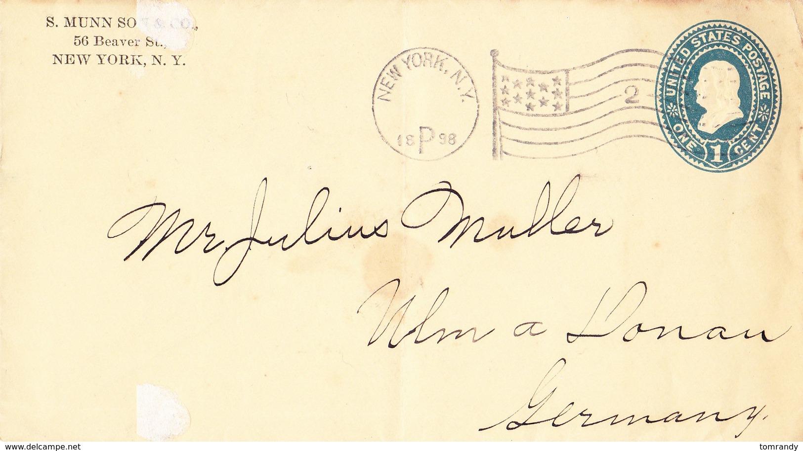 New York City 1898, Brief Nach Ulm - Briefe U. Dokumente