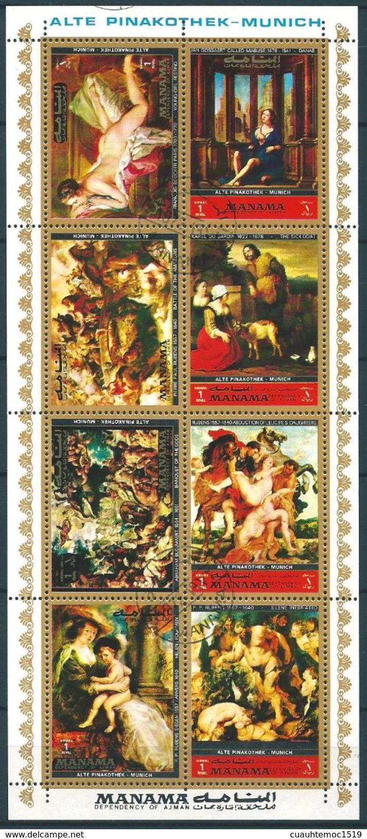 Manama (V.A.E.) 1973: Nr. 1248A-1255A° Gemälde Alte Pinakothek, München #E1 - Manama