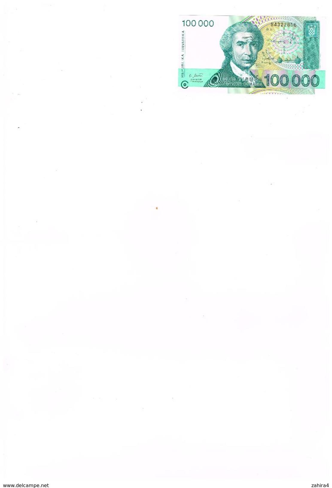 Republika Hrvatska Zagreb 30 Svibnja 1993 - 100000 - Ruber Boscovic - Croatia