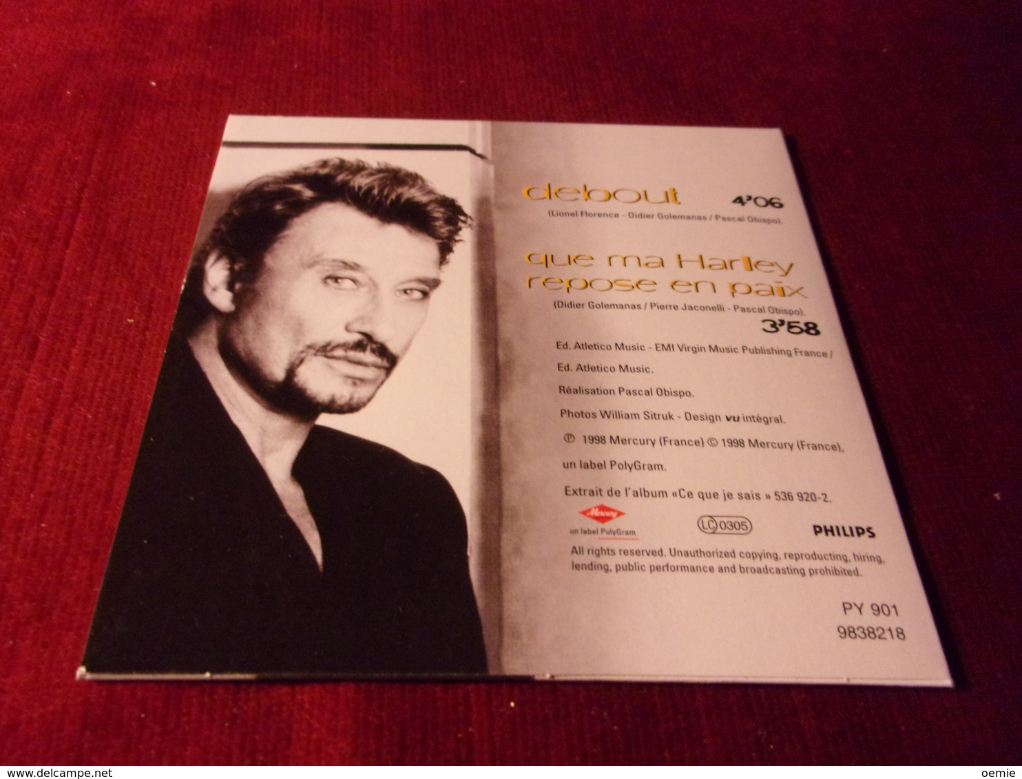 JOHNNY  HALLYDAY    ° °°°°  DEBOUT   CD  SINGLE 2  TITRES - Sonstige - Franz. Chansons