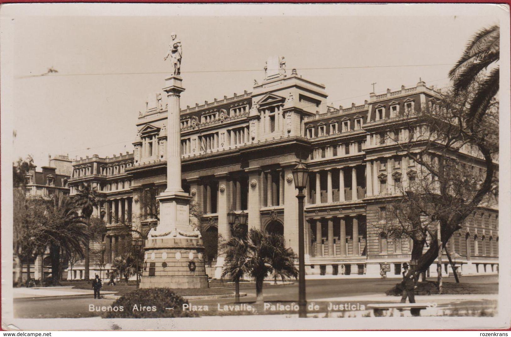 Argentina Argentine Plaza Lavalle Palacio De Justicia Buenos Aires Argentinie Tram Tramway - Argentine