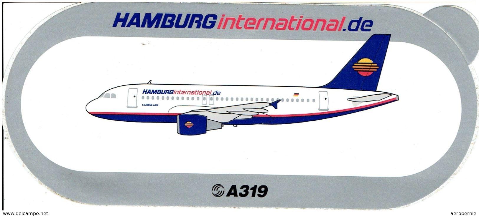 AIRBUS - Sticker: HAMBURG INTERNATONAL - A-319 - Aufkleber