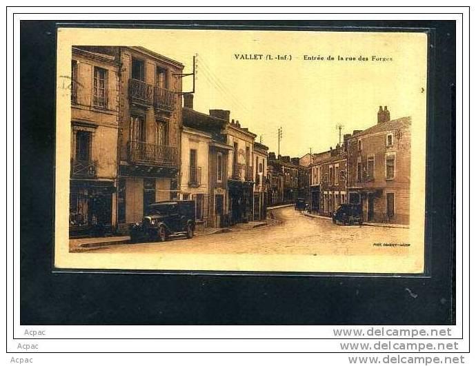 44  VALLET  Entrée De La Rue Des Forges  -1943- - Non Classés