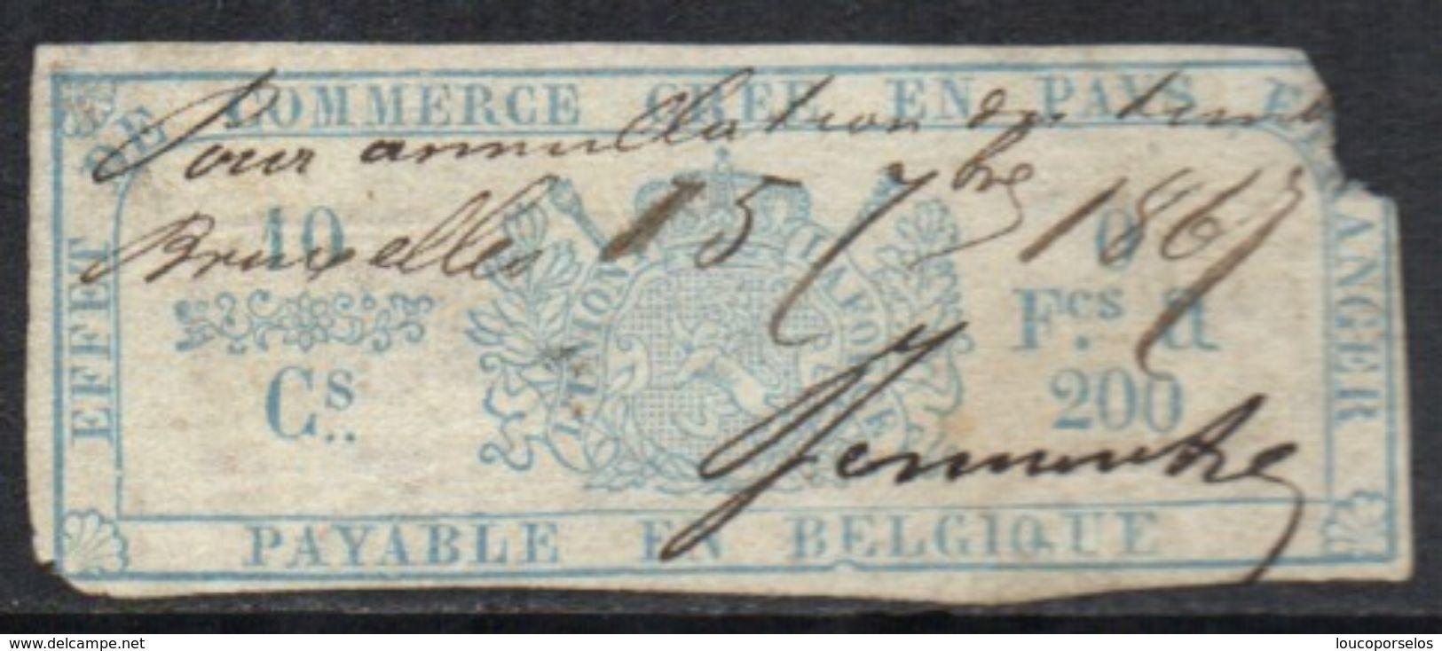 06569 Bélgica Effet De Commerce Gree En Pays Etranger Payable En Belgique - Revenue Stamps