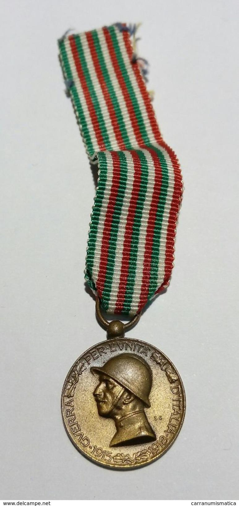 WWI - MEDAGLIA MIGNON - GUERRA ITALO - AUSTRIACA (1915-1918) Bronzo Nemico / Nastro Originale - Italia