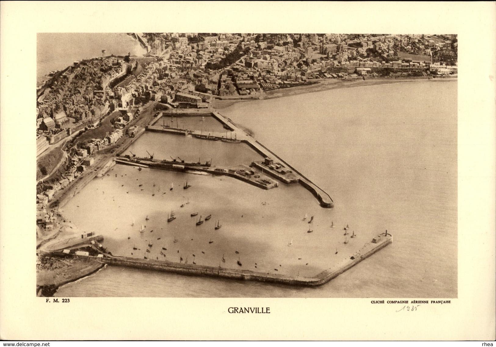 50 - GRANVILE - Planche Sépia - Cliché 1935 - France