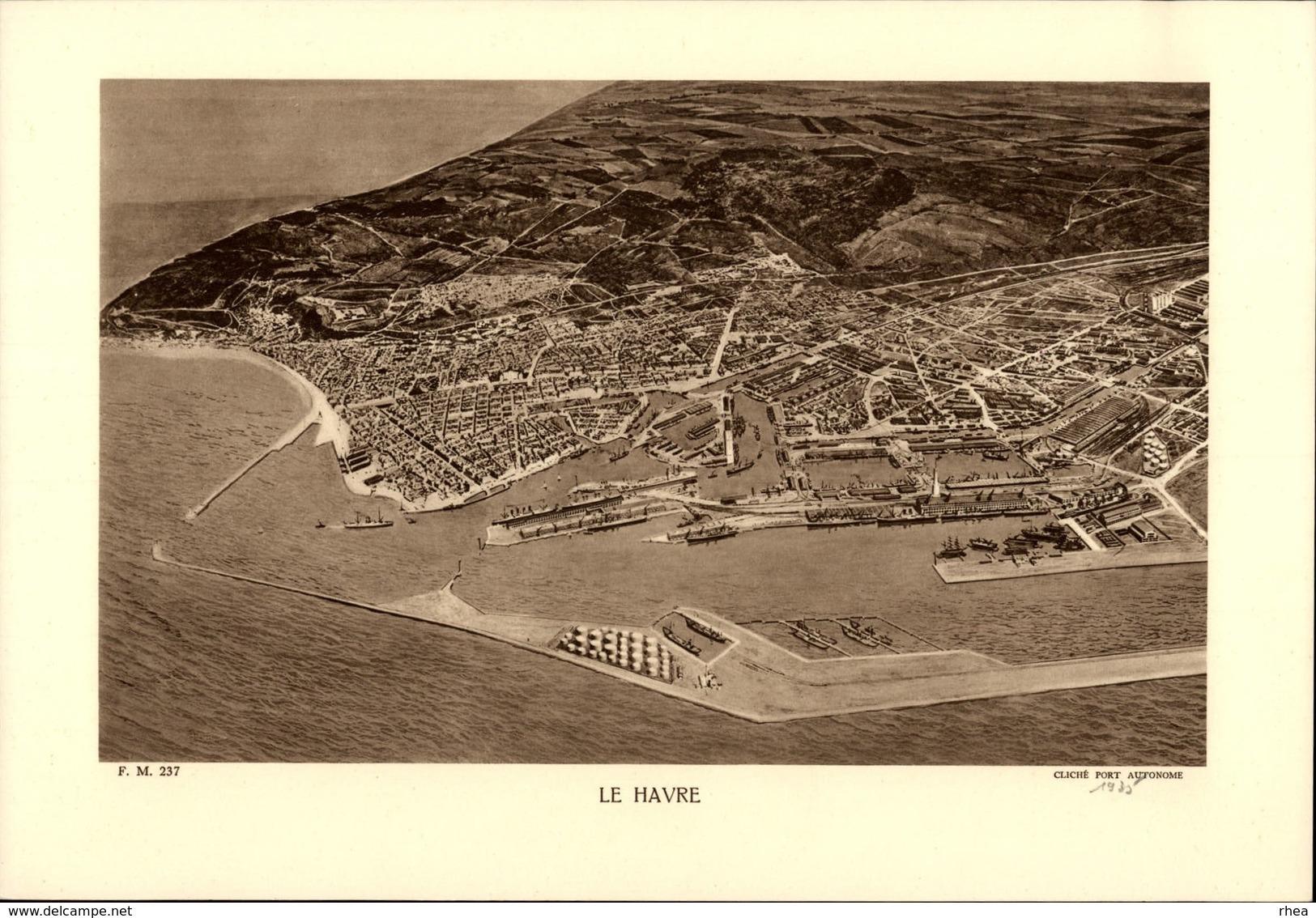 76 - LE HAVRE - Planche Sépia - Cliché Port Autonome 1935 - France