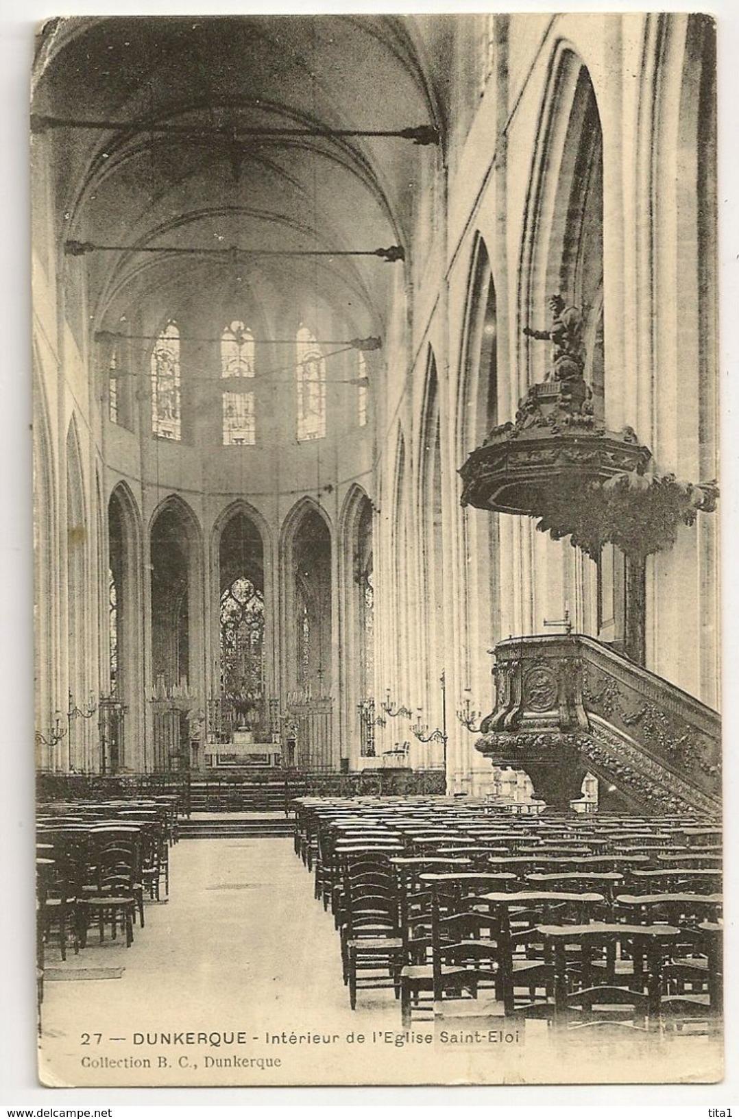 59-52 - Dunkerque - Intérieur De L' Eglise Saint-Eloi - Dunkerque