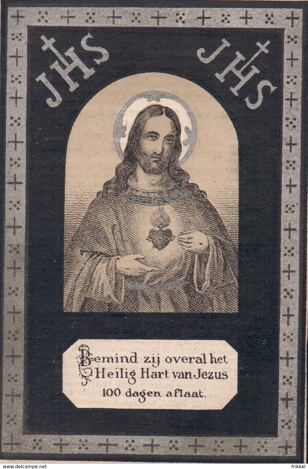 Oud Doodsprentje Retie Rethy 1891 Anna Sidonia Juliana Mertens Holy Card - Devotion Images
