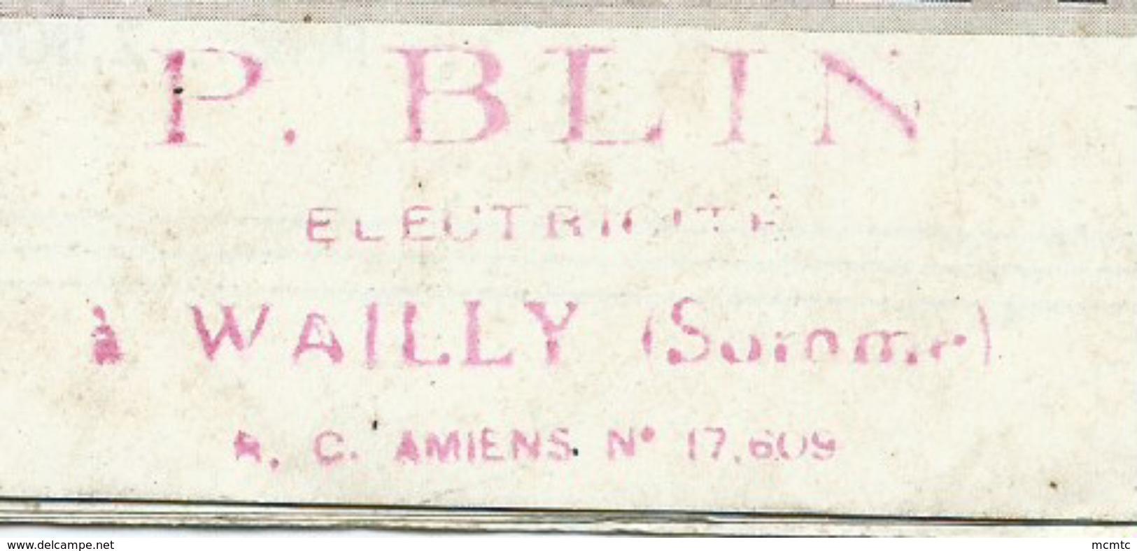 Dépliant - Postes  Desmet - Poste Radio -  P.Blin  Electricien à Wailly -  (Somme) - Publicités