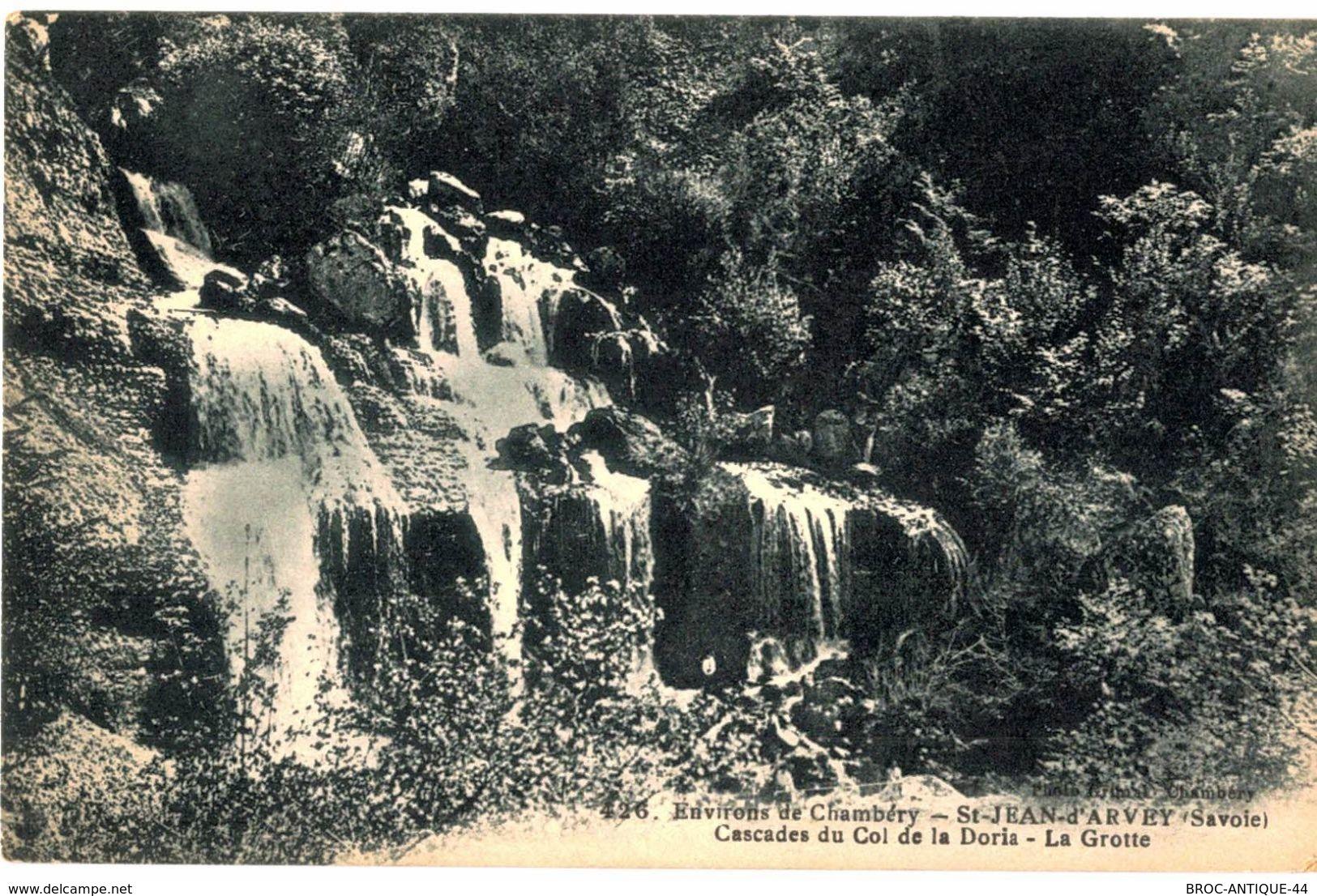 CPA N°16096 - SAINT JEAN D' ARVEY - CASCADES DU COL DE LA DORIA - LA GROTTE - Autres Communes