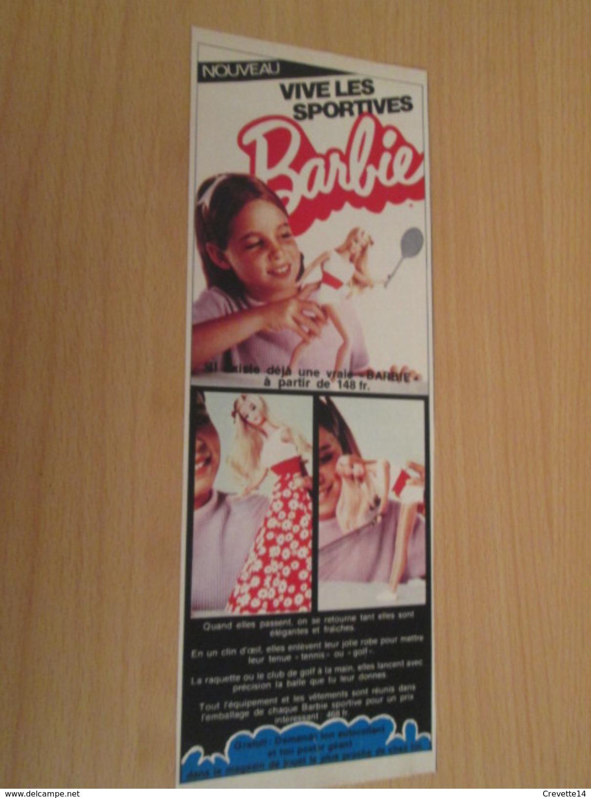 BARBIE SPORTIVE  Pour  Collectionneurs ... PUBLICITE MATTEL Page De Revue Des Années 70 - Barbie