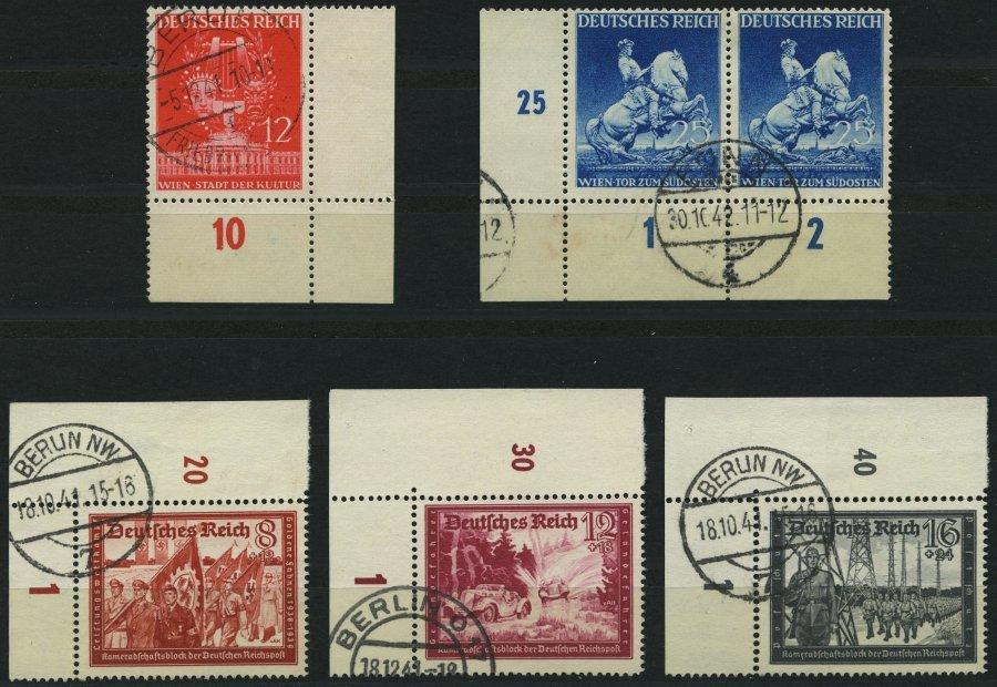 Dt. Reich 770/1,774-76 O, 1941, 5 Bogenecken, Pracht - Unclassified