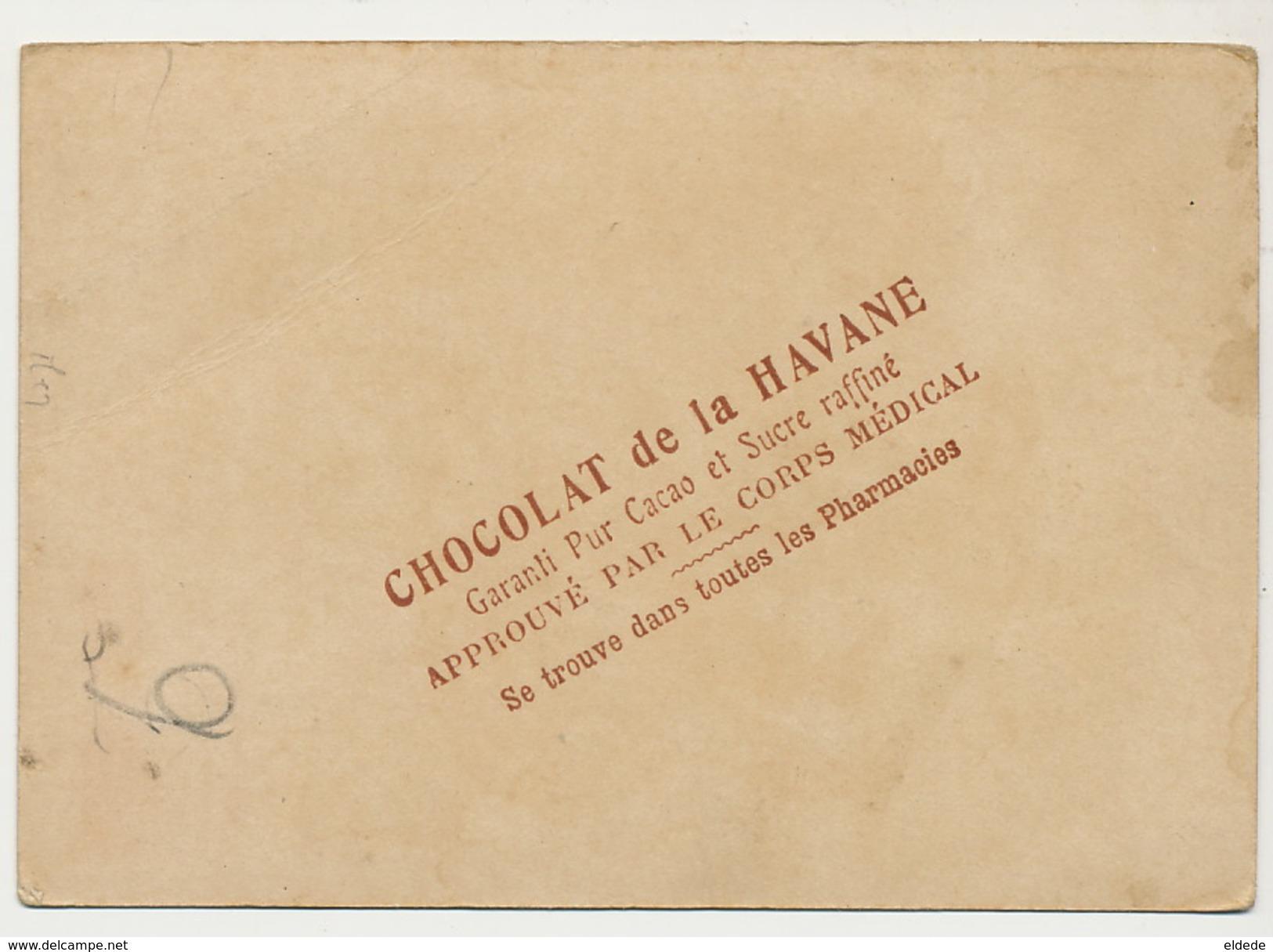 Chromo La Poste En Serbie . Postman In Serbia Advert Chocolat De La Havane Cacao Pharmacie - Serbie