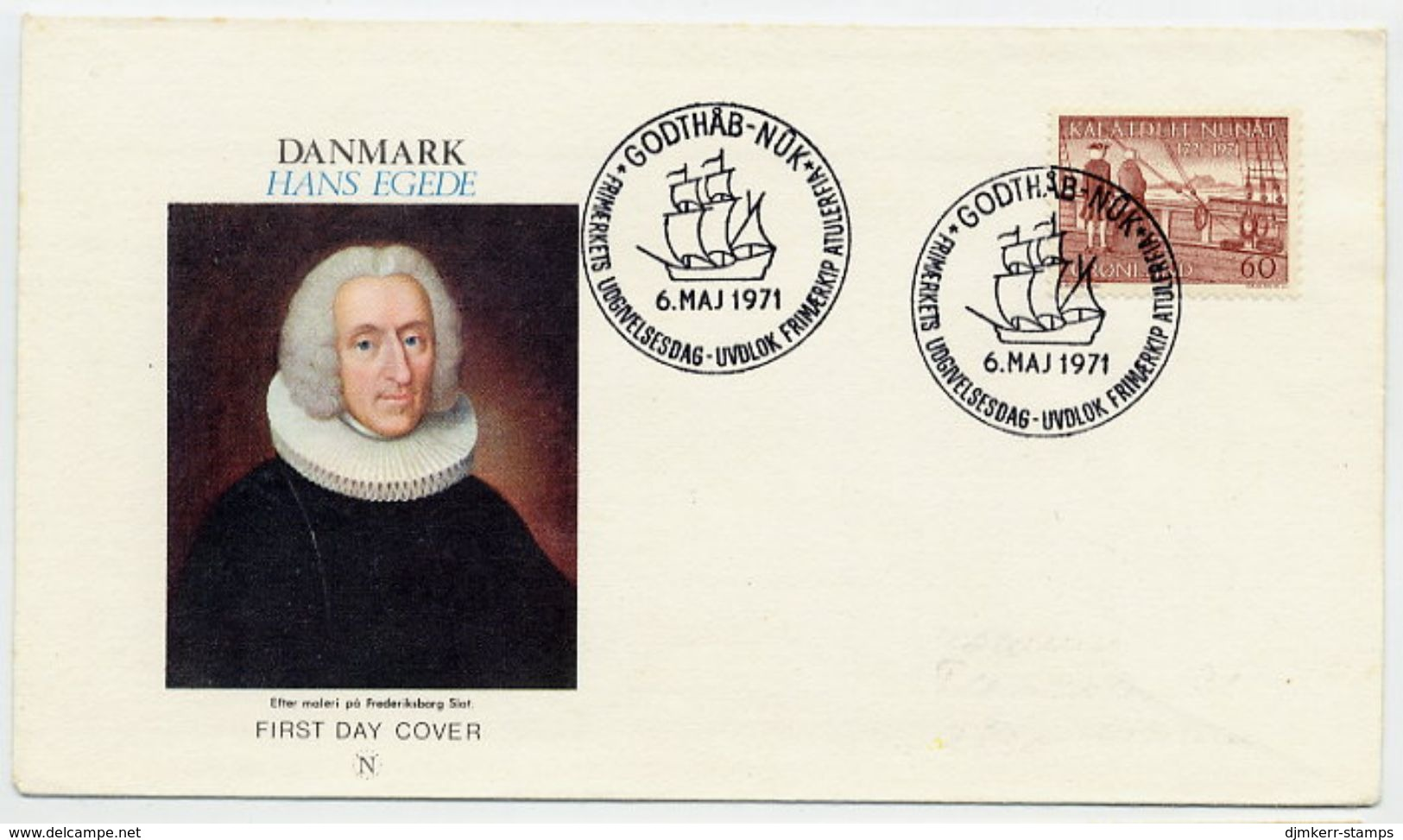 GREENLAND 1971 Arrival Of First Settlers On FDC.  Michel 77 - FDC
