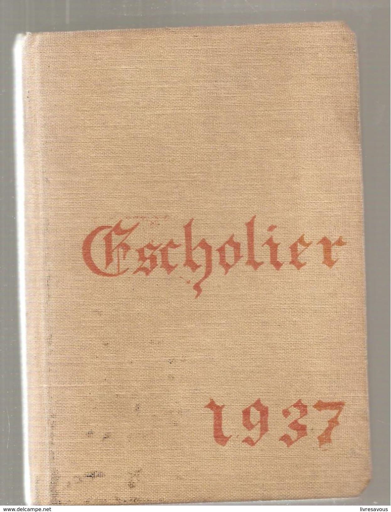 Agenda Scolaire édité Par La J.E.C. Jeunesse Etudiante Chrétienne De 1937 Non écrit - Calendriers