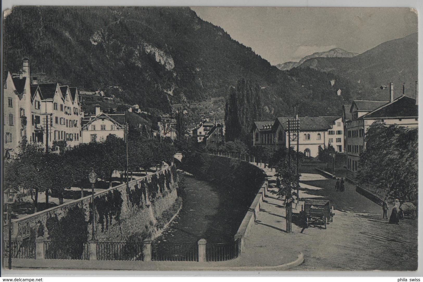 Chur - Plessurquai Gegen Das Schanfigg - GR Grisons