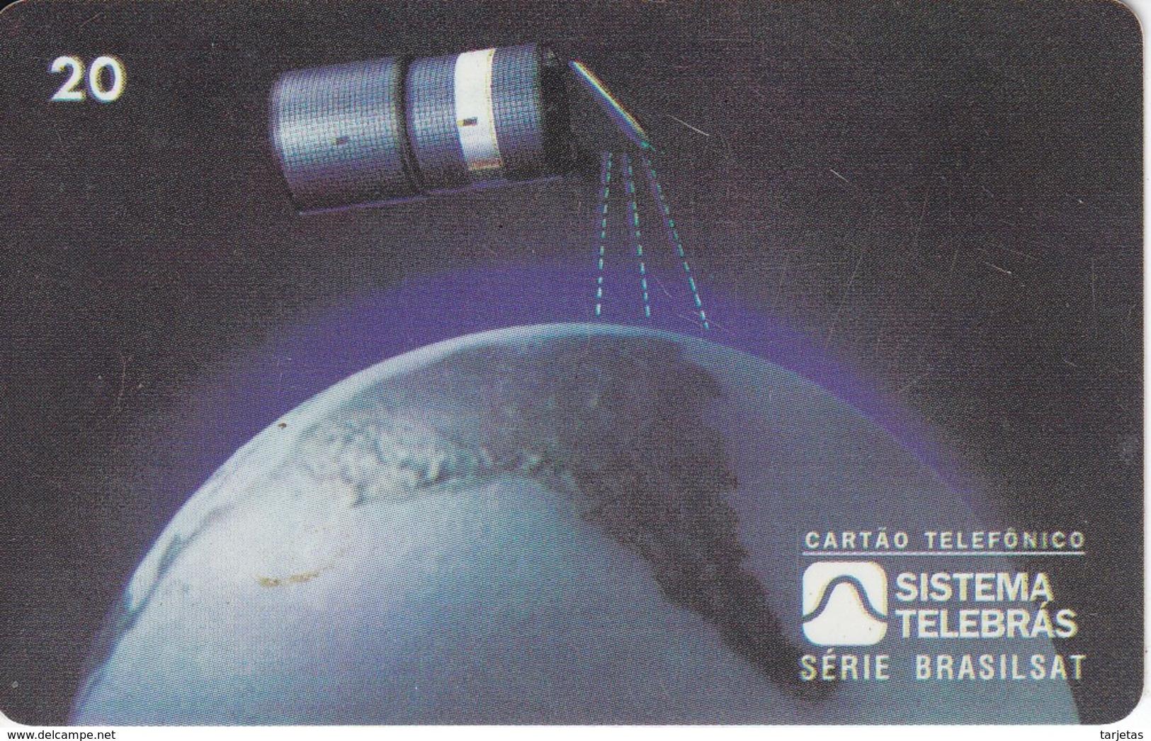 TARJETA DE BRASIL DE UN SATELITE (SATELLITE-SATELITE) - Astronomùia