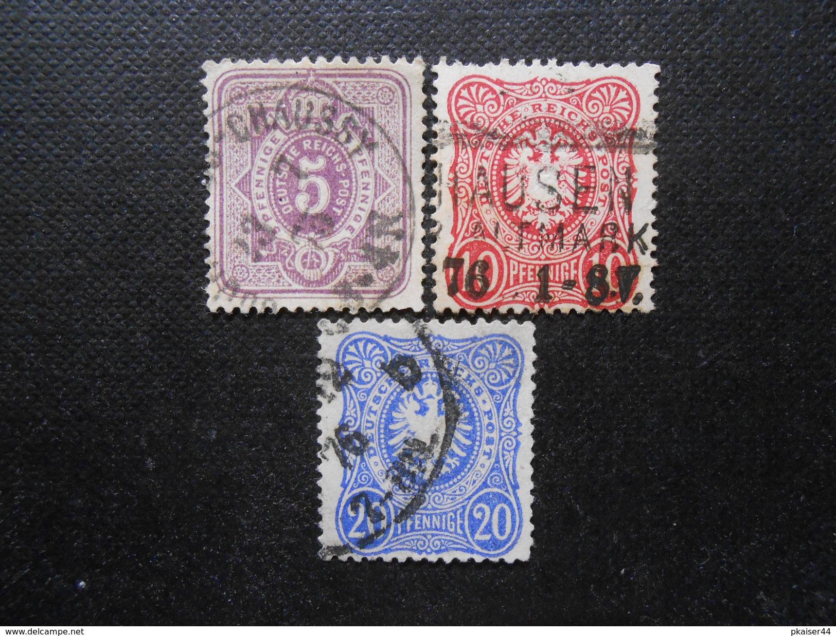 D.R.Mi 32/33a/34a  - 1875/79 - Mi 10,00 € - Gebraucht