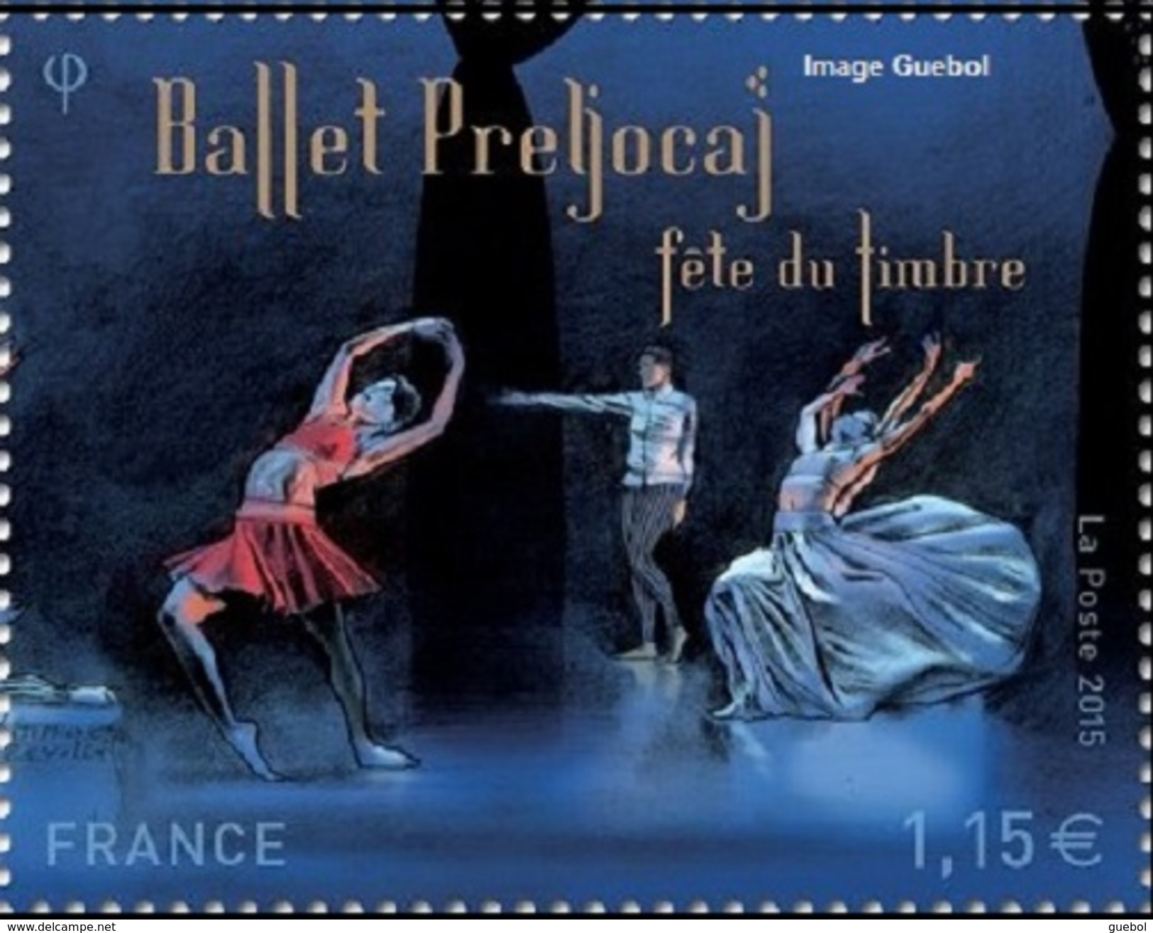 "France Philatélie N° 4983 ** Fête Du Timbre 2015 - La Danse Provenant Du Bloc ""ballet Preljocaj - Les Nuits"" - Tag Der Briefmarke"