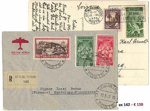 *y Vaticano - Oltre 120 Lett./cart./IP Con Varietà Di Affr. Dalla Conciliazione Fino Al 2001. Alcune FDC. Qualità Mista, - Stamps
