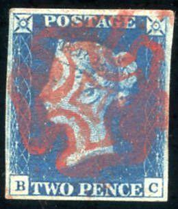 ¤ Inghilterra - 2 Pence Azzurro (2) Grandi Margini. Splendida. AD. - Stamps