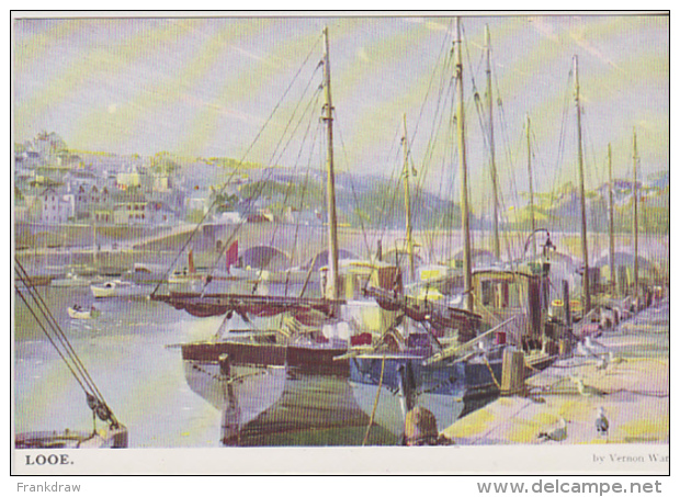 Postcard - Art - Vernon Ward - Looe - VG - Postcards